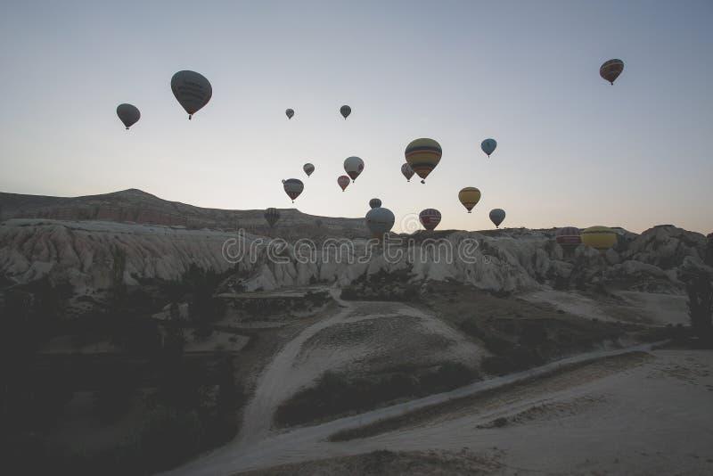 土耳其热空气气球 库存照片