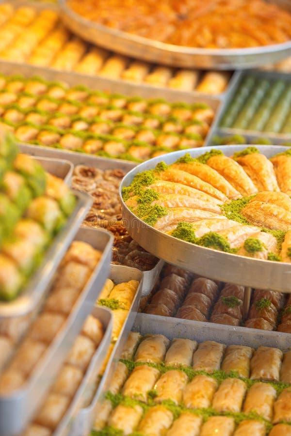 土耳其甜果仁蜜酥饼 库存图片