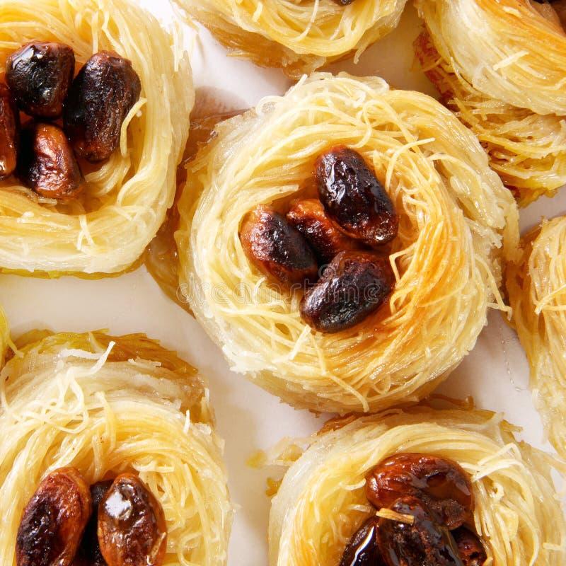 土耳其甜点混合宏指令 免版税库存照片