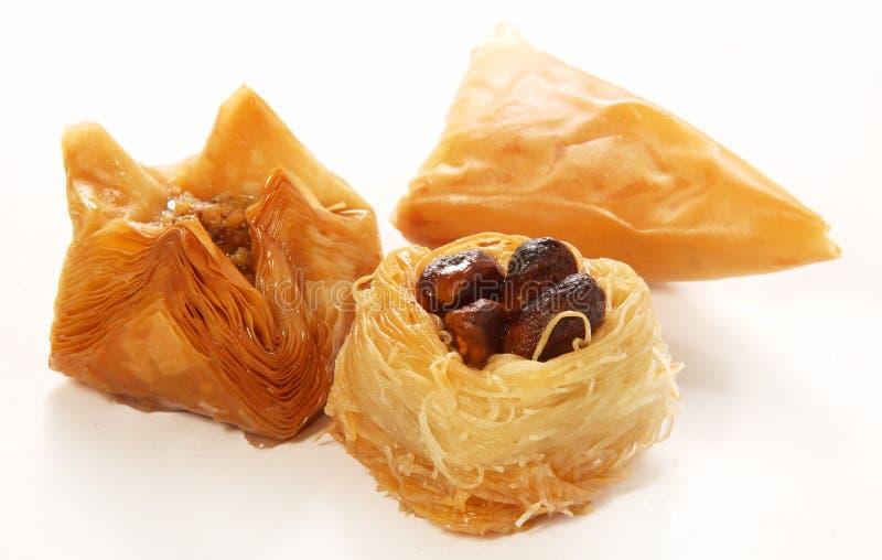 土耳其甜点混合 库存照片