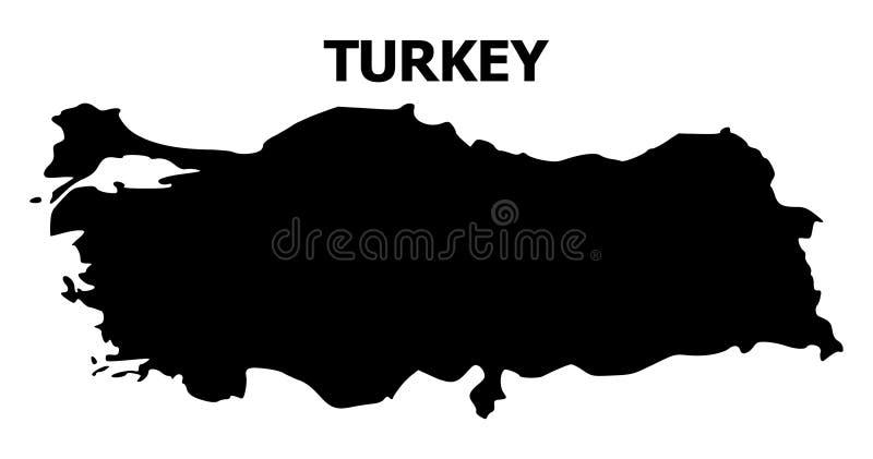 土耳其的传染媒介平的地图有名字的 皇族释放例证