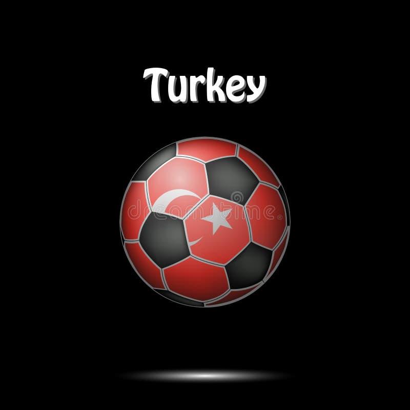 土耳其的旗子以足球的形式 皇族释放例证
