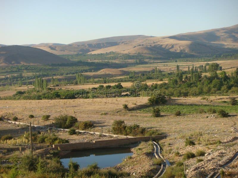 土耳其的特征半山全景在夏天 库存图片