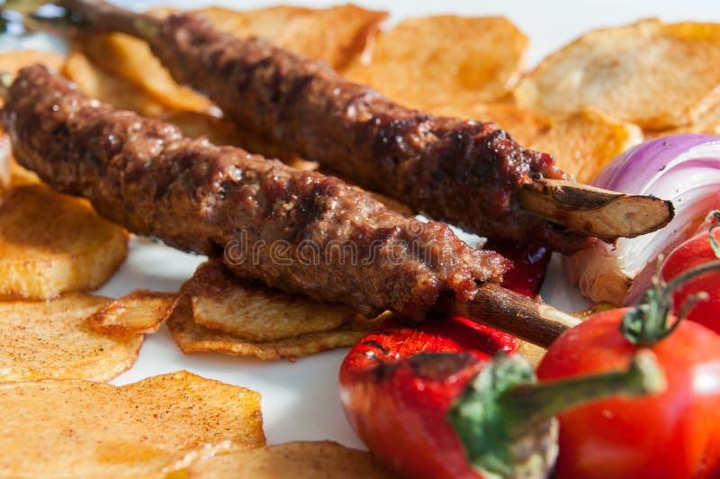 土耳其的kebabs 库存图片
