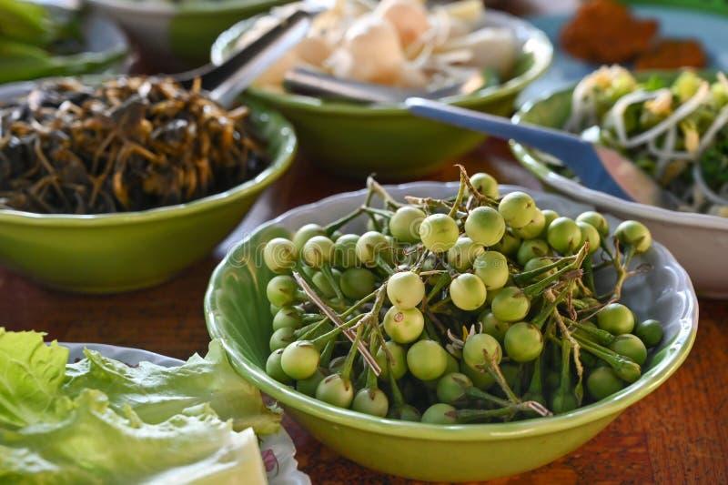 土耳其莓、当地蔬菜、泰国 库存照片