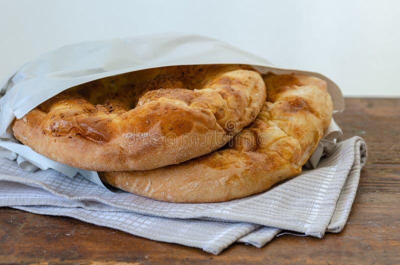 土耳其语斋月的皮塔饼;拉马赞Pidesi 免版税图库摄影