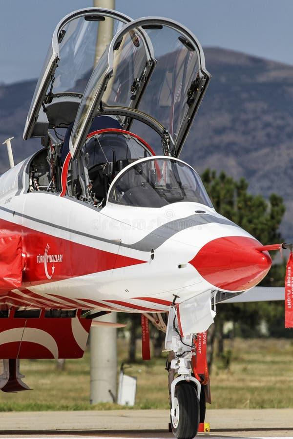 土耳其语空军队土耳其语担任主角F5 库存照片