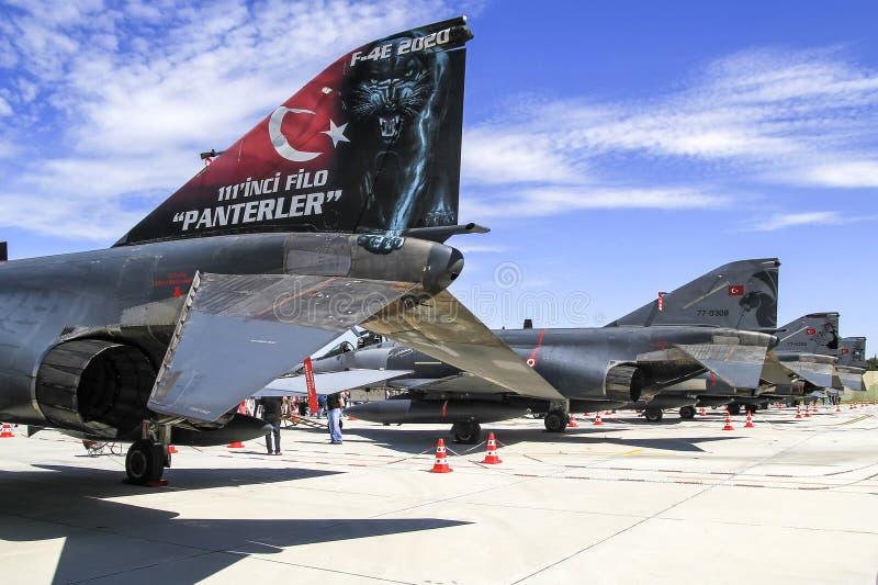 土耳其语空军队F4幽灵 免版税库存照片