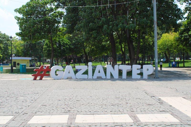 土耳其语,加济安泰普,6月24日,- 2019年:加济安泰普街道  图库摄影