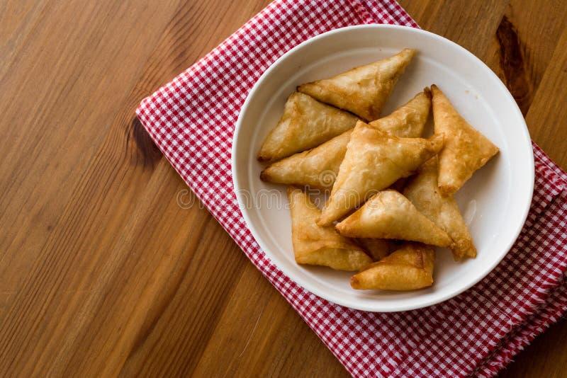 土耳其语Borek用乳酪/Peynirli Muska Boregi 库存照片