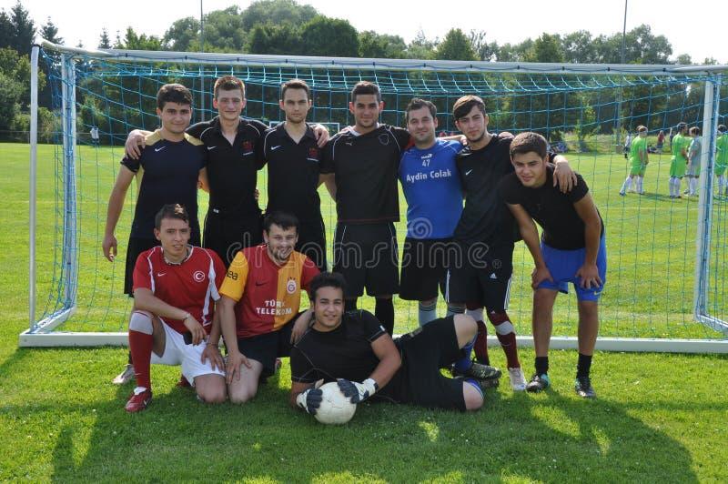 土耳其足球小组 免版税库存照片