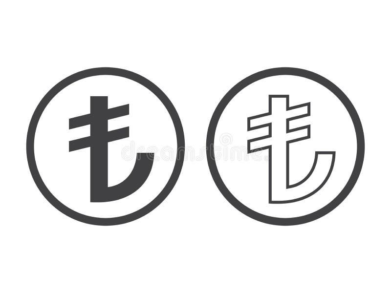 土耳其里拉符号 TL货币符号 矢量插图 皇族释放例证