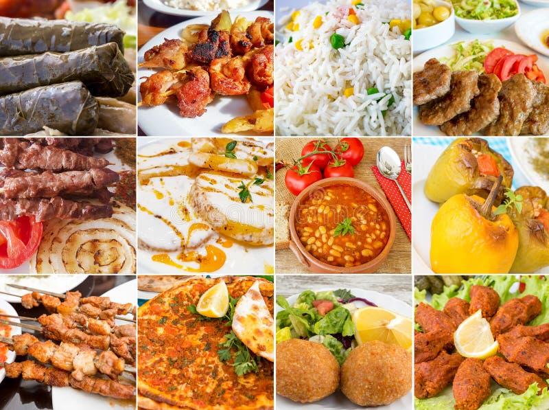 土耳其食物拼贴画 库存图片