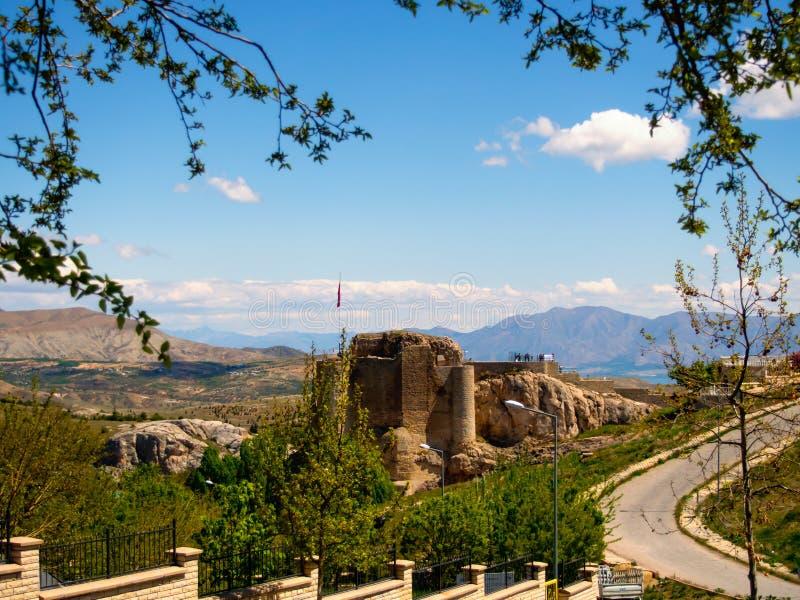 土耳其,埃拉泽harput城堡视图 库存图片