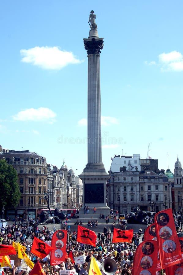 土耳其&库尔德示范在伦敦 免版税库存图片