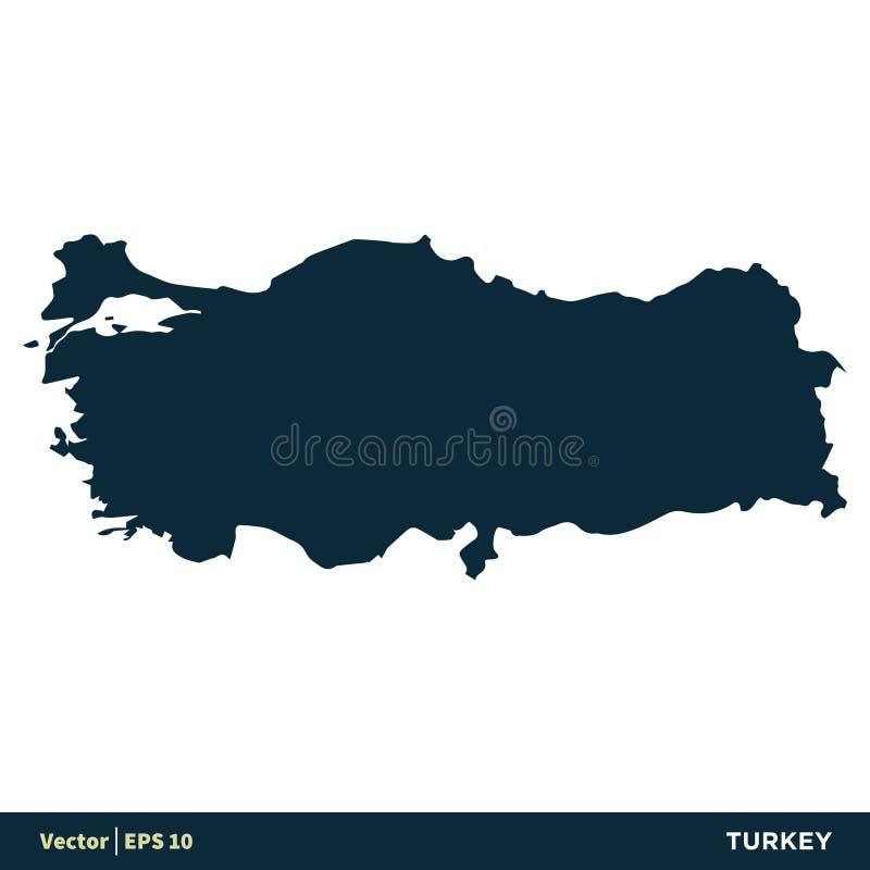 土耳其-欧洲国家映射传染媒介象模板例证设计 o 皇族释放例证
