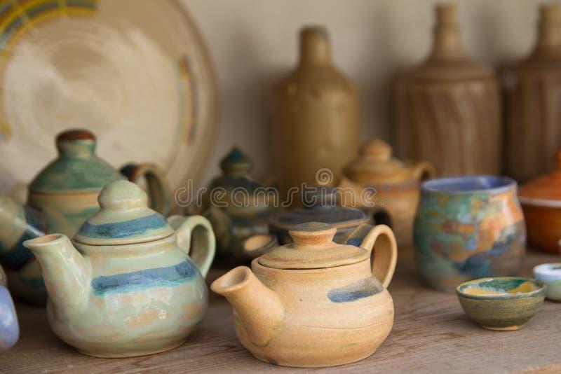 黏土茶罐 库存照片