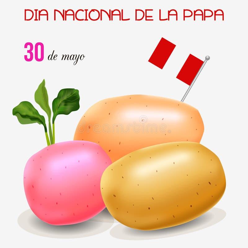 土豆天在秘鲁 皇族释放例证