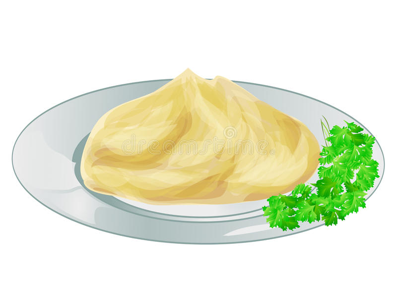 土豆泥 向量例证