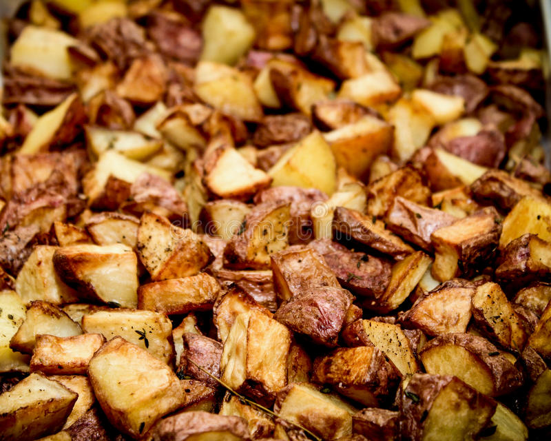 土豆烤了 库存照片