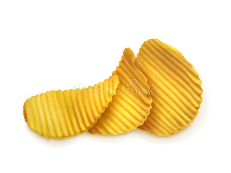 土豆片传染媒介例证 向量例证