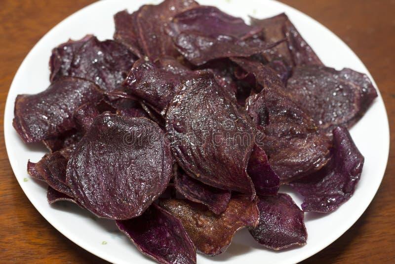土豆紫色甜点 免版税库存照片