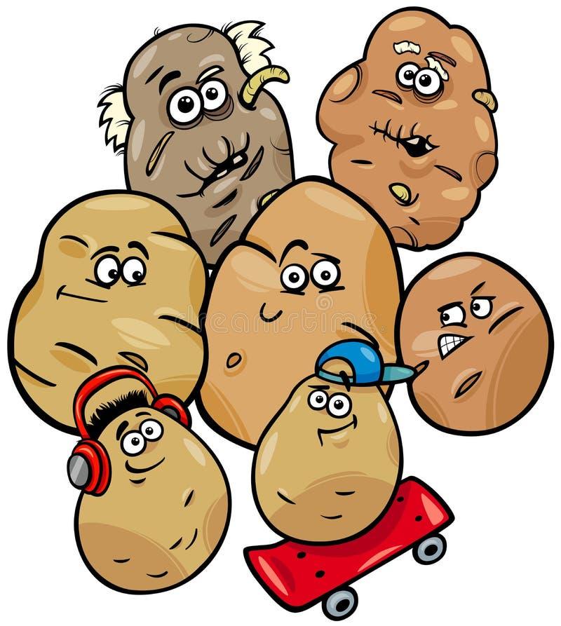 土豆菜家庭动画片例证 皇族释放例证