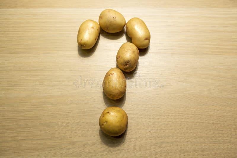 土豆问号桌hd英尺长度 库存图片
