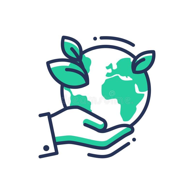 绿土-现代传染媒介个别线路象 向量例证