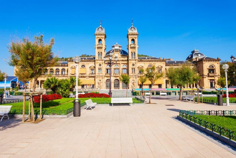 圣・萨巴斯蒂安政府大厦,西班牙 图库摄影