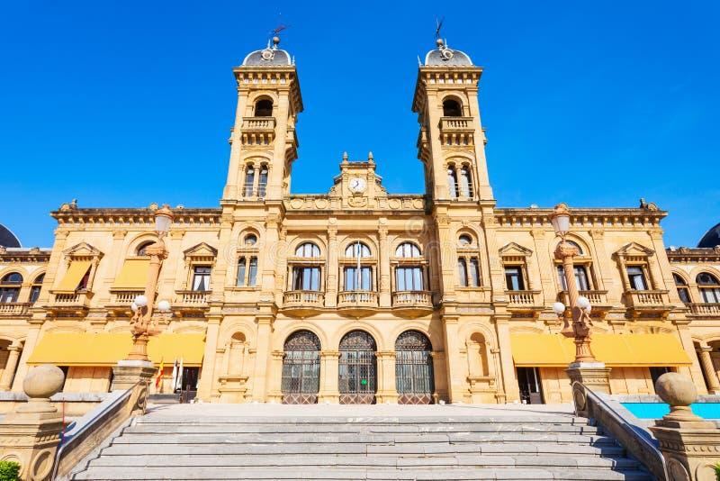 圣・萨巴斯蒂安政府大厦,西班牙 库存图片