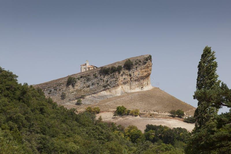 圣・ Pantaleon de Losa, Merindades 免版税库存照片
