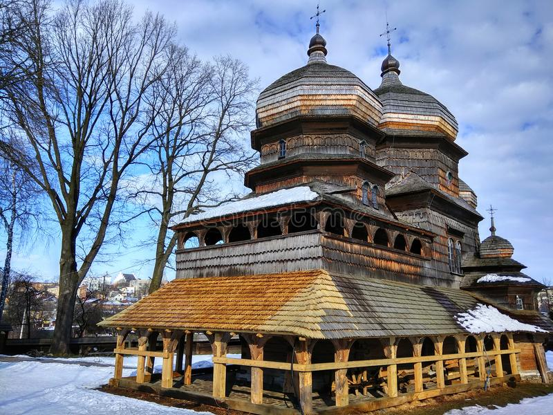 圣乔治东正教在德罗霍贝奇,乌克兰 图库摄影