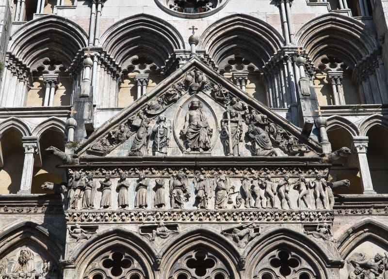 圣乔治大教堂。 费拉拉。 伊米莉亚-罗马甘。 免版税库存图片