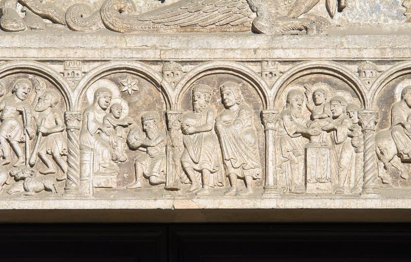 圣乔治大教堂。 费拉拉。 伊米莉亚-罗马甘。 库存图片