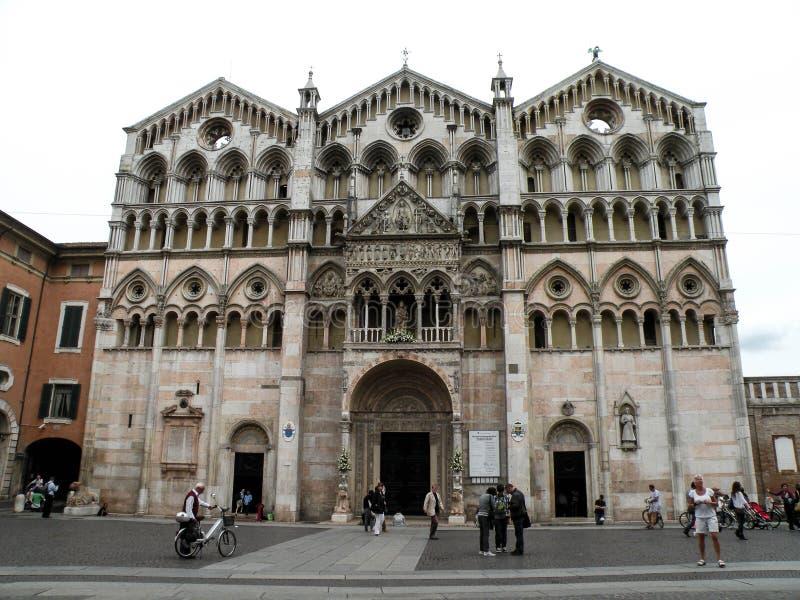 圣乔治大教堂,费拉拉,伊米莉亚罗马甘-意大利 免版税图库摄影
