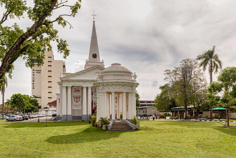 圣乔治教会在乔治城,槟榔岛,马来西亚 免版税库存图片