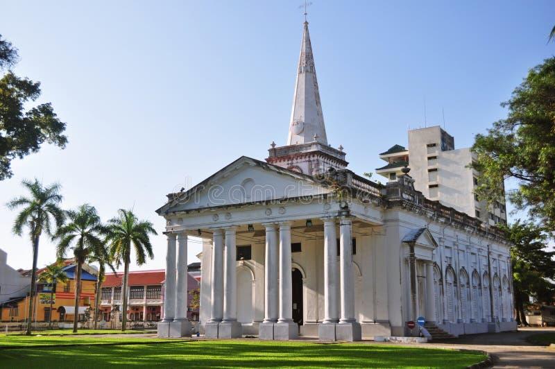 圣乔治的教会槟榔岛 免版税图库摄影