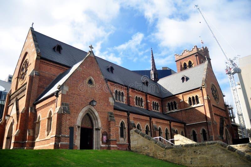圣乔治` s大教堂在珀斯,澳大利亚 免版税库存图片