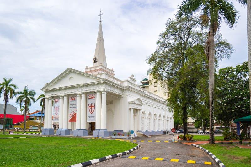 圣乔治` s教会在乔治市,槟榔岛,马来西亚 图库摄影