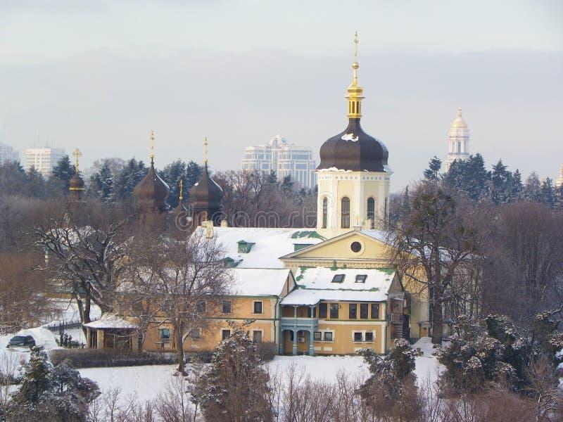 圣乔纳斯,基辅,乌克兰三位一体修道院  库存图片