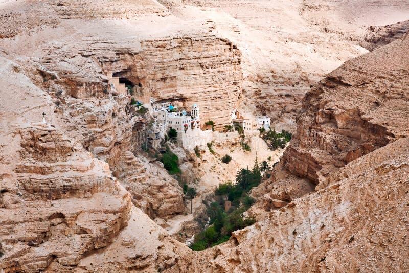 圣乔治修道院在Judean沙漠 免版税库存照片