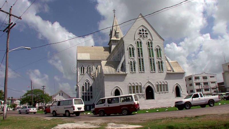 圣乔治大教堂在乔治城在圭亚那 股票视频