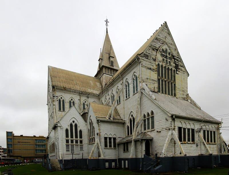 圣乔治大教堂在乔治城,圭亚那的中心 库存图片