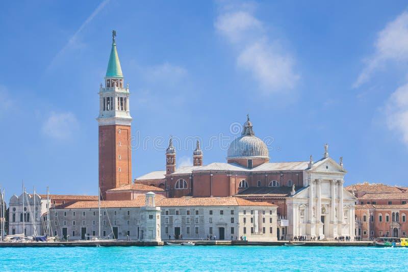 圣乔治岛,威尼斯,意大利看法 免版税库存图片