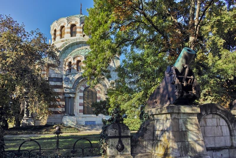 圣乔治征服者教堂陵墓,市普列文 库存图片