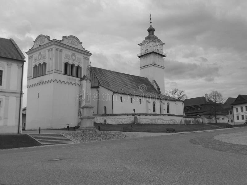 圣乔治教会在波普拉德,斯洛伐克 图库摄影