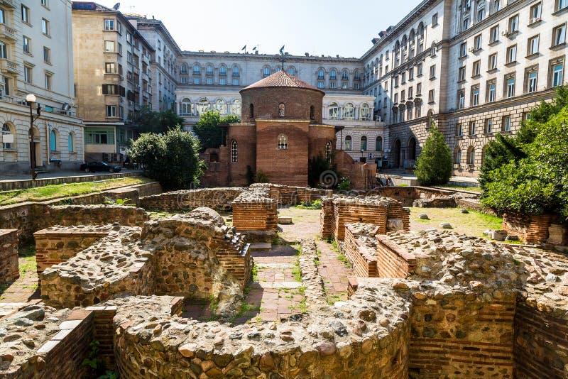 圣乔治教会在索非亚,保加利亚 免版税库存图片