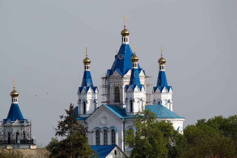 圣乔治教会波兰农场的 库存照片