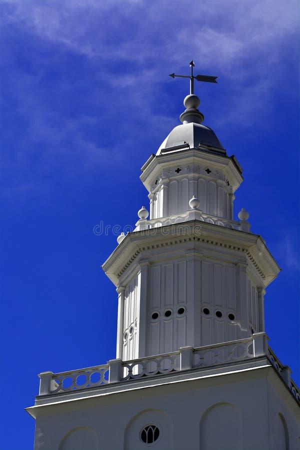 圣乔治犹他LDS摩门教堂在清早 免版税库存图片